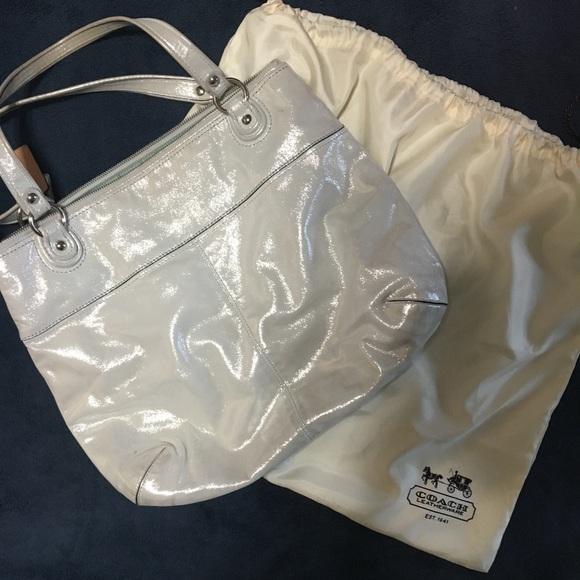 799704acfff Coach Bags   Bag Light Silver Sparkle   Poshmark